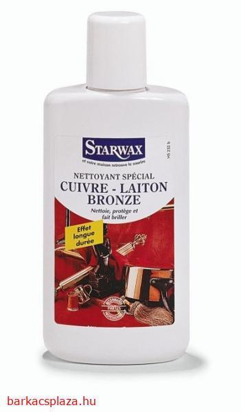 Starwax speciális vörösréz, sárgaréz és bronz tisztítószer 250 ml