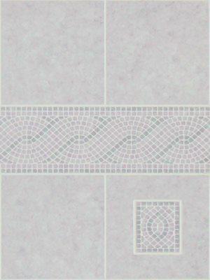 Görög bordűr padlizsán 20x22,8 cm csempemintás vízálló falburkoló panel 2,98 m2 P631