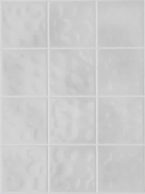 Domborított szürke 11x11 cm csempemintás vízálló falburkoló panel 2,98 m2 P625
