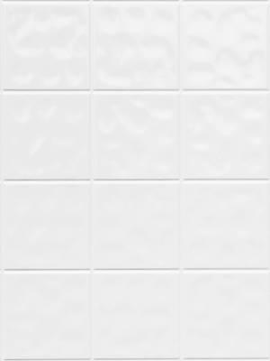 Domborított fehér 11x11 cm csempemintás vízálló falburkoló panel 2,98 m2 P627