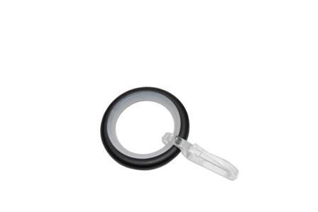 Függönykarika fém Ø16 mm-es karnisokhoz, csúszóbetéttel 10 db/csomag