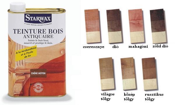 Starwax antiquaire fafesték több színben 500 ml