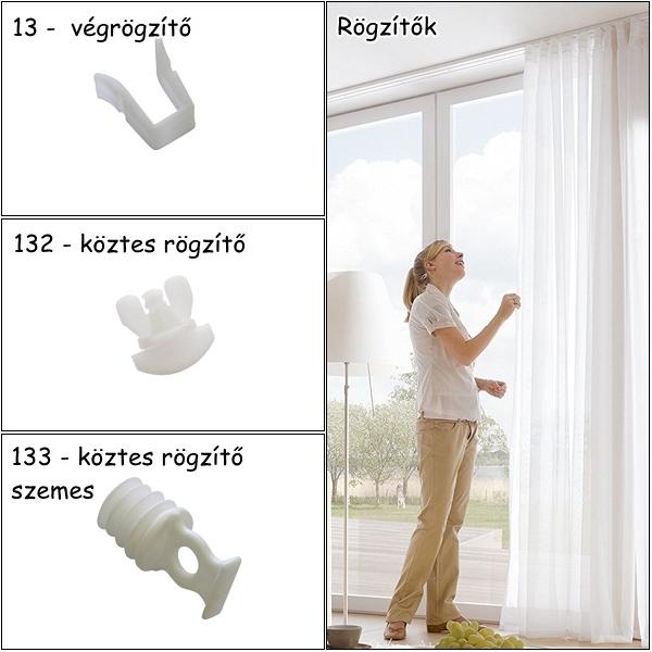 Rögzítők műanyag függönysínekhez