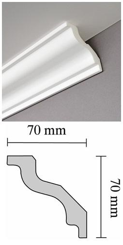 Díszléc S 100 polisztirol, mennyezeti 2 méter