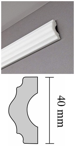 Díszléc I 40 polisztirol, oldalfali 2 méter