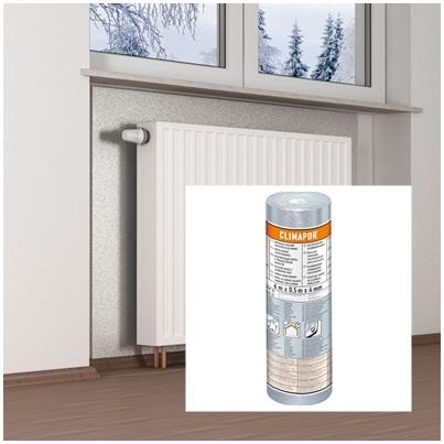 Szigetelőtapéta alumínium bevonattal 3 m2/tekercs Climapor