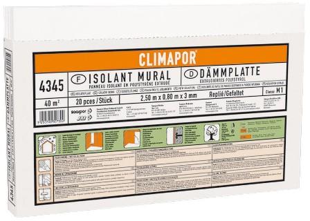 Mennyezeti hőszigetelő lapok grafitos 0,88 m2/csomag Climapor AKCIÓS!