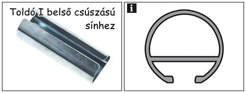 Karnissín toldó belső csúszású sínekhez I fém