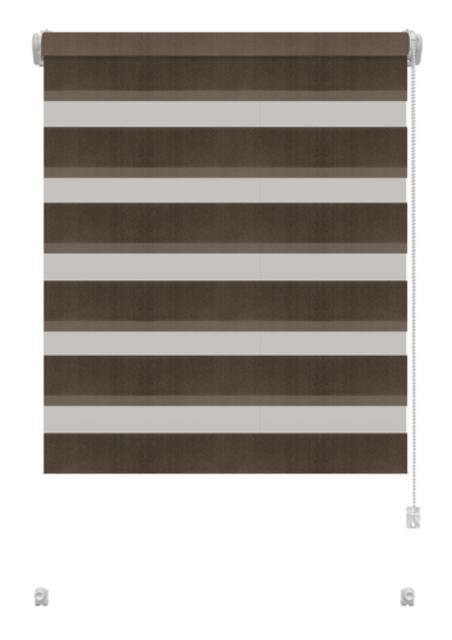 Sávroló Zebra csokoládé barna