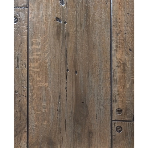 Szögelt deszka karibu tölgy famintás táblás falburkoló panel P284