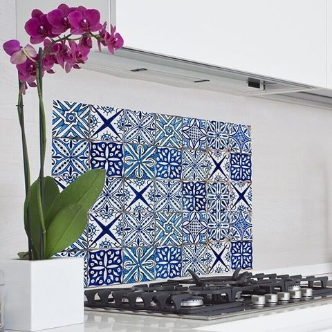 Konyhai dekor fólia 65x47 cm Azulejos kék