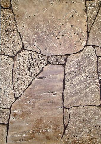 Hasított kő barna kőmintás táblás falburkoló panel 2,98 m2 P177