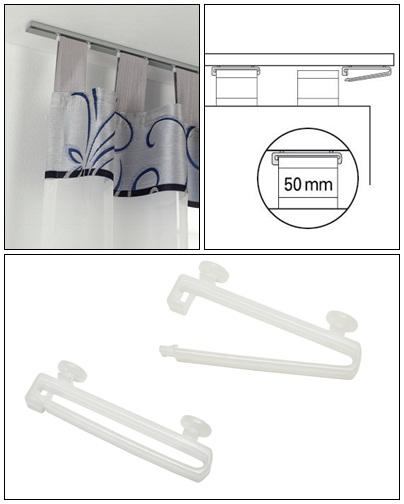 Füles függöny tartó csúszkával 10 db/csomag