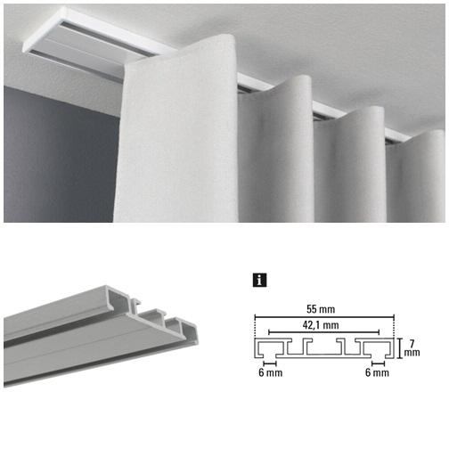 Alumínium függönysín 3 soros 150-250 cm közötti méretben 2 féle színben