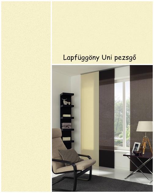 Lapfüggöny Uni 60 x 245 cm pezsgőszín
