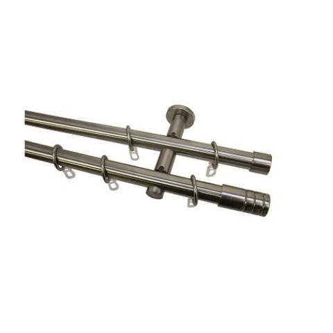 Fém karnisszett Ø20 mm Henger végzáróval 240 cm