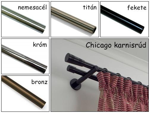 Belső csúszású karnissín 160 cm Chicago