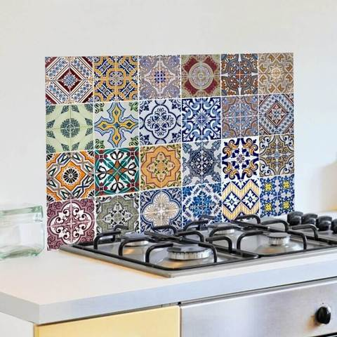 Konyhai dekor fólia 65x47 cm Azulejos