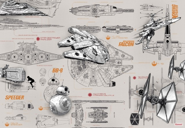 Fotótapéta 8-493 Star Wars Blueprints